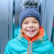 Little girl in winter coat — Stock Photo #75676287