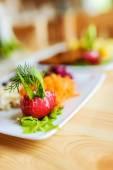 Salad of radish, carrot, beet and fenne — Stock Photo