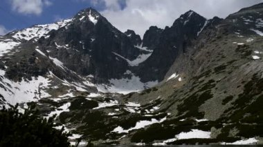 Lomnicky Stit in High Tatras mountains of Slovakia — Stock Video