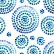 Watercolor circles seamless pattern — Stock vektor #53959923