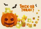 Halloween background illustration with pumpkin — Stock Vector