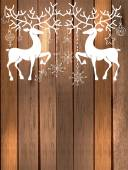Deer with great horns and decorations for beautiful Holiday desi — Stock Vector