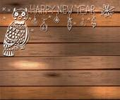 Owl and decorations for beautiful Holiday design — Stock Vector