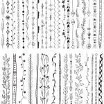 Hand drawn line border set — Stock Vector #59226479