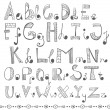 Hand drawn alphabet — Stock Vector #59226487