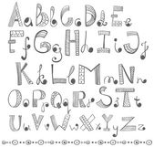 Hand drawn alphabet — Stock Vector