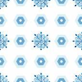 Modèle sans couture de flocons de neige aquarelle — Vecteur