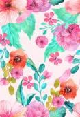 Akwarela kwiatowy wzór — Wektor stockowy