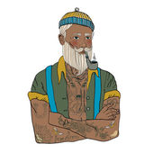 Hipster sailor man — Stockvektor