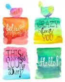 Abstract stylish watercolor background collection — Stock Vector
