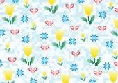 Spring flowers pixels — Stock Vector