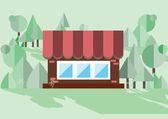 Cabin in the woods — Stock Vector