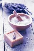 Produkty pro lázně, lázně, wellness a hygiena. — Stock fotografie