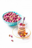 Turkish tea in traditional glasses — Stock Photo