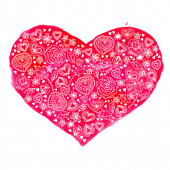 Watercolor heart — Vettoriale Stock