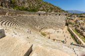 Ancient lycian Myra ruins at Turkey Demre — Stock Photo
