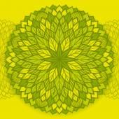 Patrón floral redondo. — Vector de stock