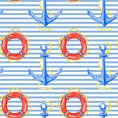 Vector nautical pattern — Stock Vector