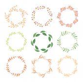 Watercolor wreaths — Stock Vector