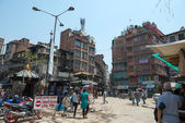 Streets near Dubar square of Kathmandu — Stock Photo