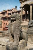 Guard on Patan Durbar Square — ストック写真