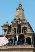 Krishna mandir on Patan Durbar Square — Stock Photo