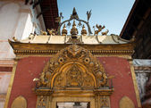 Golden gate on a Durbar square — Stock Photo