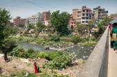 Bishnumati river in Kathmandu — Stock Photo