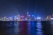Victoria Harbor at Hong Kong — Stock Photo