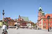 Old Town, the Royal Castle and Sigsmund's Column — Stock Photo