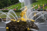 Samson fountain of the Grand Cascade — Stock Photo
