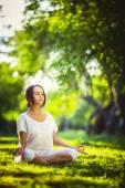 Tid för yoga — Stockfoto