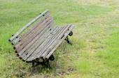 Old moss-covered bench — Stock Photo