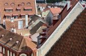 Cityscape panorama of old town Tallinn, Estonia — Stock Photo