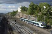 HELSINKI, FINLAND, AUGUST 15, 2014: Railway junction at the c — Stock Photo