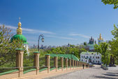 Church of famous Kiev Pechersk Lavra Monastery — Stock Photo