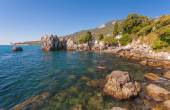Bays and beaches Chekhov — Stock Photo
