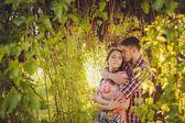 Jeune couple amoureux — Photo