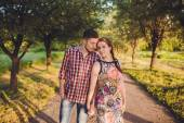 Couple walking holding hands — Stock Photo