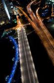 Night view of traffic road — Stock Photo
