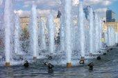 Fountain on street — Stock Photo