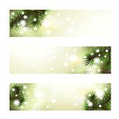 Christmas green banner — Stock Vector