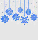 Christmas card with variation snowflakes — Stock Vector