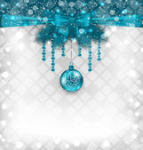 Shimmering background with Christmas traditional elements — Vetorial Stock