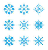 Collection of variation snowflakes isolated on white background — Stock Vector