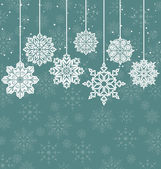 Christmas background with variation snowflakes — Stock Vector