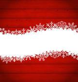 Snowflakes border for Happy New Year — Vetor de Stock