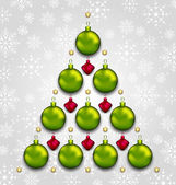 Abstract tree made of Christmas taditional elements — Stockvektor