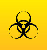 Bio hazard sign, danger symbol warning — Stock Vector