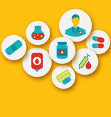 Set colorful medical icons for web design — Vettoriale Stock